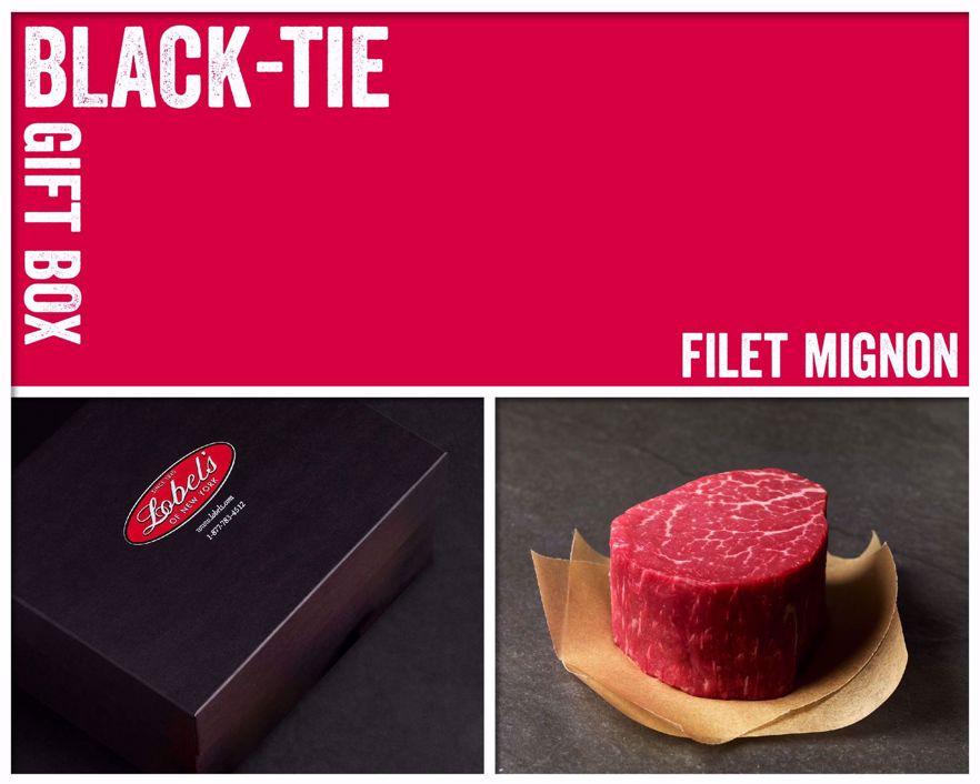 Black-Tie Gift Box: 4 (10 oz.) USDA Prime Filet Mignons