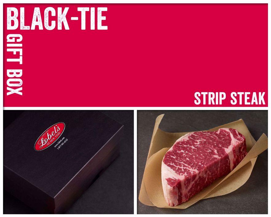 Black-Tie Gift Box: 2 (12 oz.) USDA Prime Dry-Aged Boneless Strip Steaks
