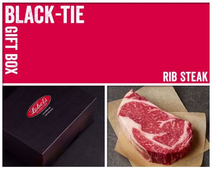Black-Tie Gift Box: 2 (16 oz.) USDA Dry-Aged Prime Boneless Rib Steaks
