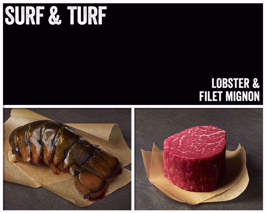 Surf & Turf: Lobster and Filet Mignon