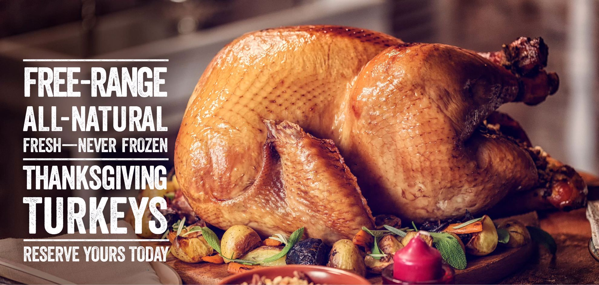 Save 50% off shipping your Thanksgiving Turkey!