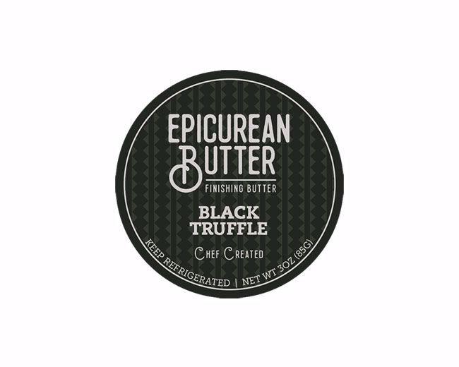 Epicurean Black Truffle Butter Label