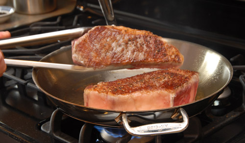 Pan Roasting a Steak